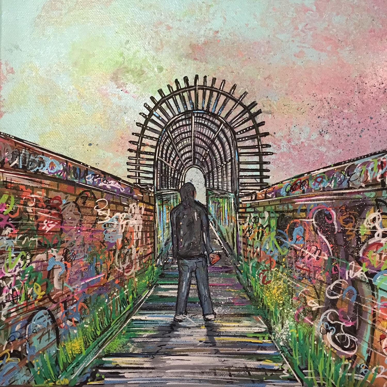 Walkway - Original Canvas