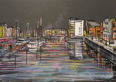 Portishead Marina - Original Painting