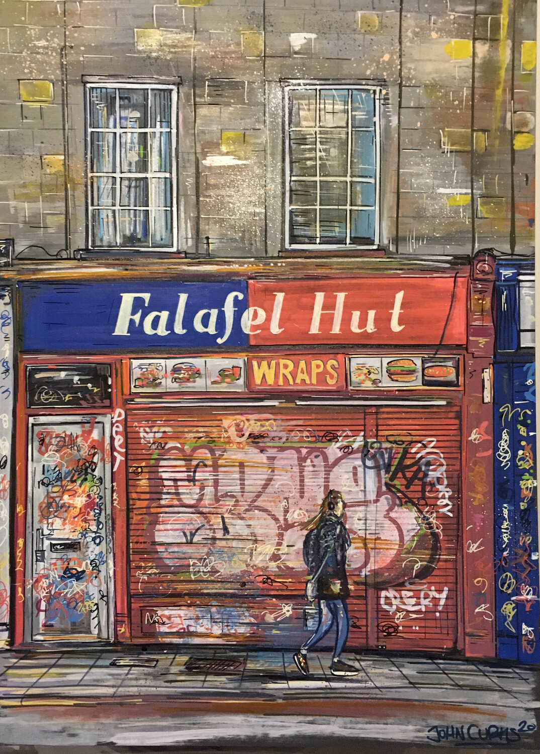 Falafel Hut - Original Painting