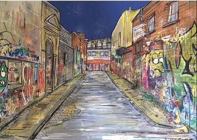 Alleyway - Original Painting On Card