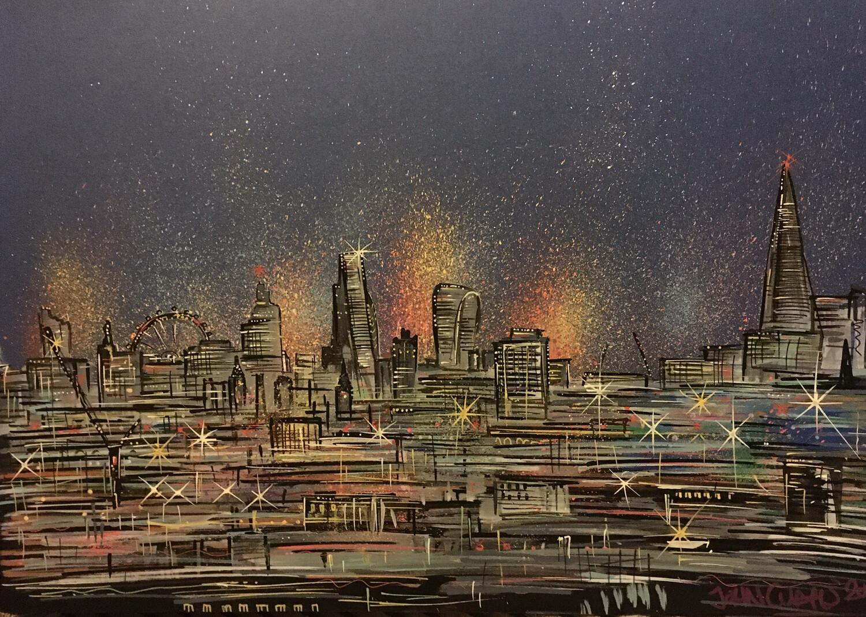 London skyline 2 - Original Painting