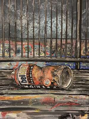 Empty Can 2 - Original Painting On Canvas