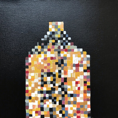 Pixelated 1 - Original Painting On Canvas