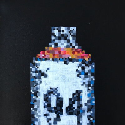 Pixelated 2 - Original Painting On Canvas