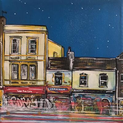 Take Five cafe (Stokes Croft) - Mini canvas