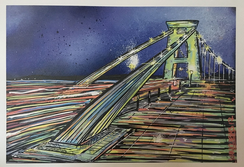 Suspension Bridge - Print - A3 or A4 Limited Edition