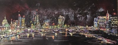 London At Night - Original Canvas