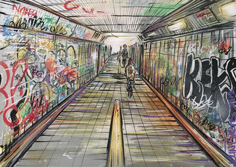 The Subway - Original Painting