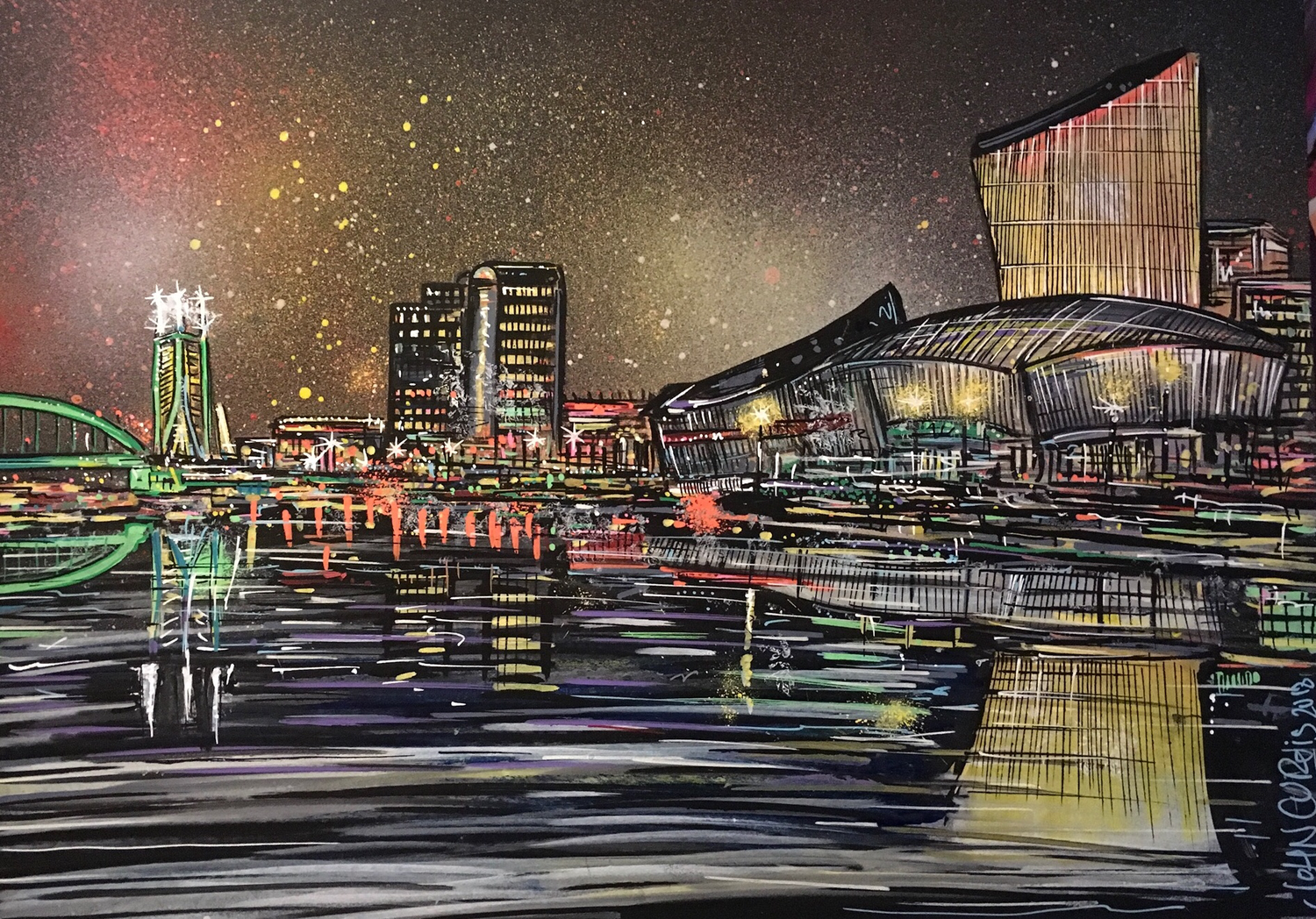 Salford Quays - Original Painting on board