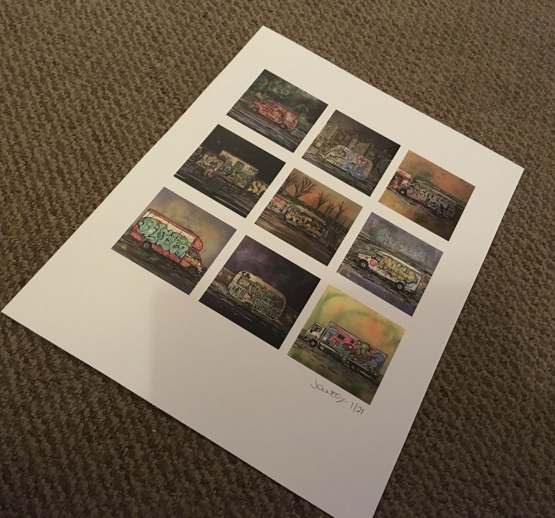 Bristol Vans - Limited edition giclee print
