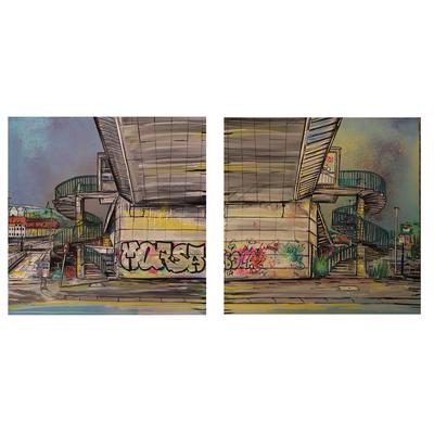 Cumberland Basin - Two Original paintings
