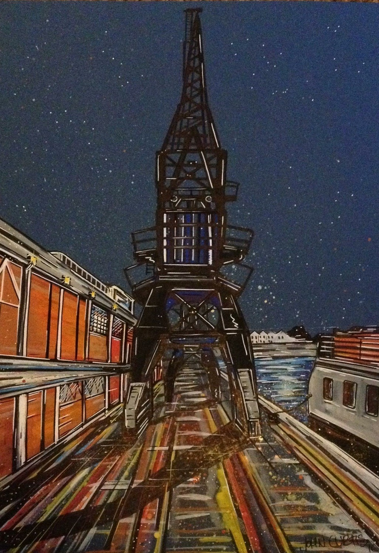 Bristol Cranes - Print - A3 Limited Edition 1 of 50