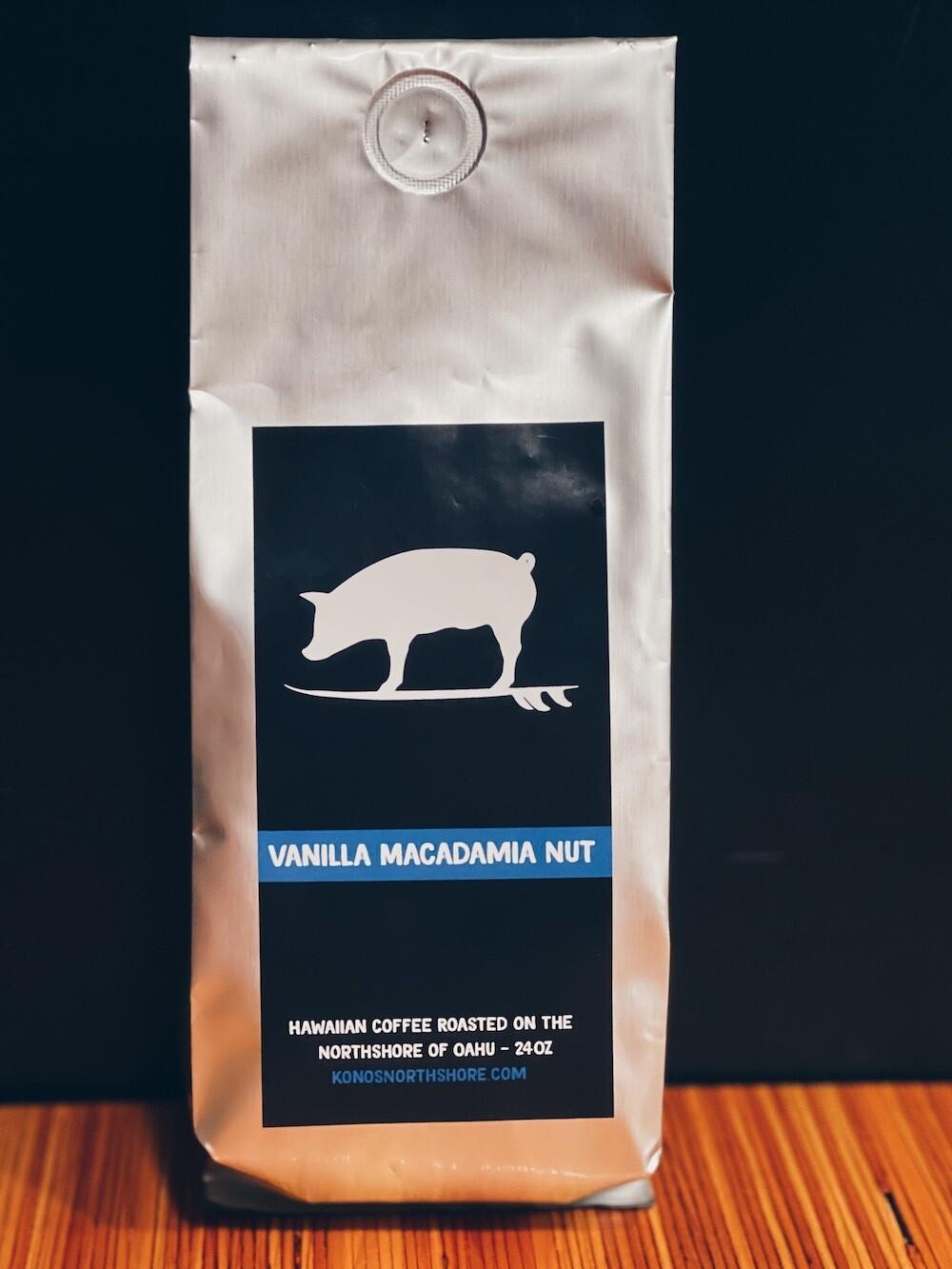 KONO'S VANILLA MACADAMIA NUT COFFEE (24 OZ.)
