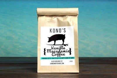 KONO'S VANILLA MACADAMIA COFFEE (8 OZ.)