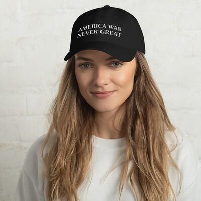 SALE: NEVER GREAT - Dad hat (black)