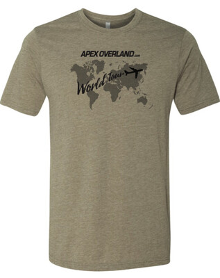Apex Overland World Tour TShirt - All Proceeds Benefit Currently Deployed US Soldiers