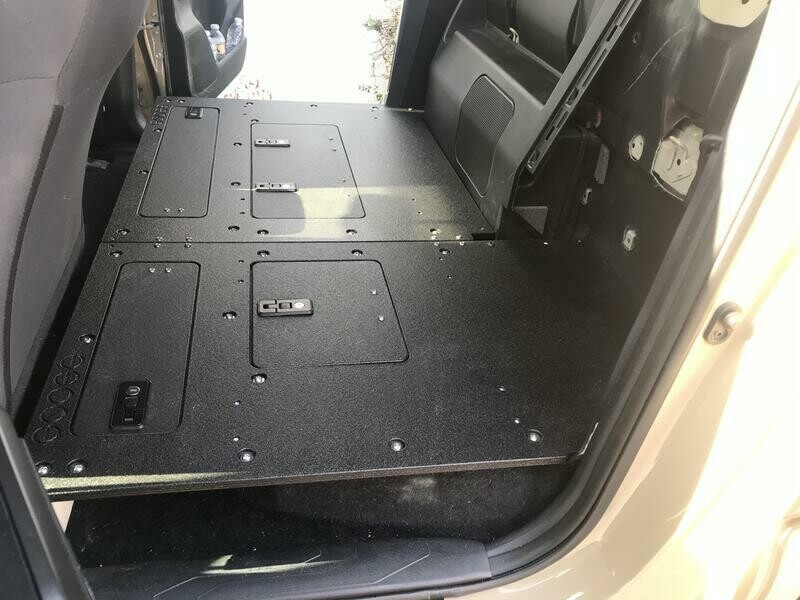 Goose Gear - TACOMA DOUBLE CAB 2ND ROW SEAT DELETE WITHOUT BACK WALL PANELS FOR 2ND AND 3RD GENERATIONS