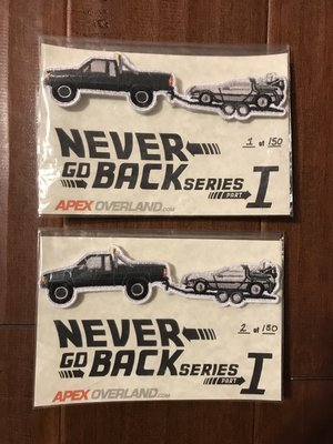 Never Go Back Series I - Tacoma and DeLorean - Limited Edition Patch
