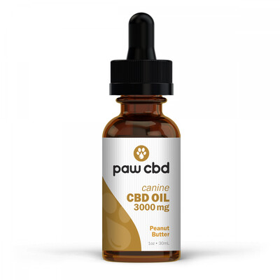 Pet CBD Oil 3000MG Peanut Butter - 30mL