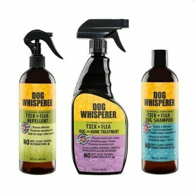 Yaya Dog Whisperer TICK + FLEA Complete System Triple-Pack