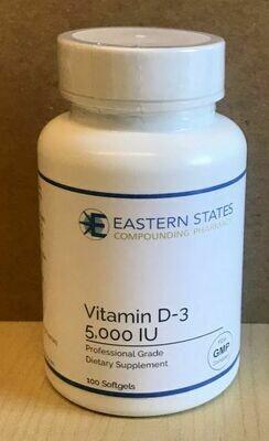 Vitamin D-3 5,000 IU  100 Softgels