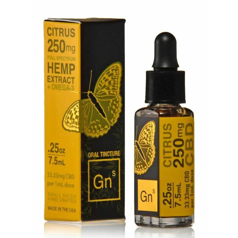 Full Spectrum Tincture 250mg - 7.5mL - Citrus Flavor