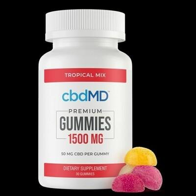 Premium CBD Gummies - 1500MG - 30 ea