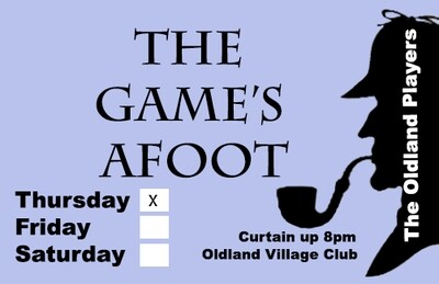 The Game's Afoot - Thursday November 28th