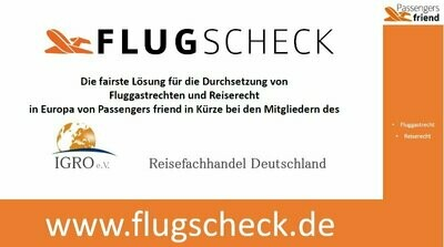 Passengers-Friend-Flugscheck (1St. VPE = 50 Schecks)