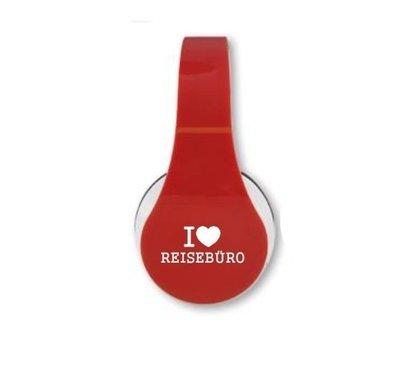 Kopfhörer rot mit Top-Klangqualität