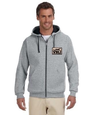 Full-Zip Contrast Hoodie