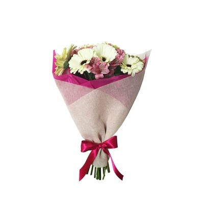 Bouquet de gerberas y alstroemerias