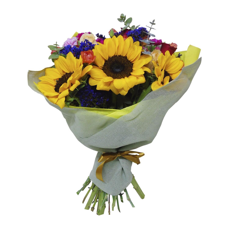 Bouquet girasoles arcoiris