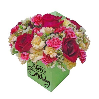 Caja de rosas cherry
