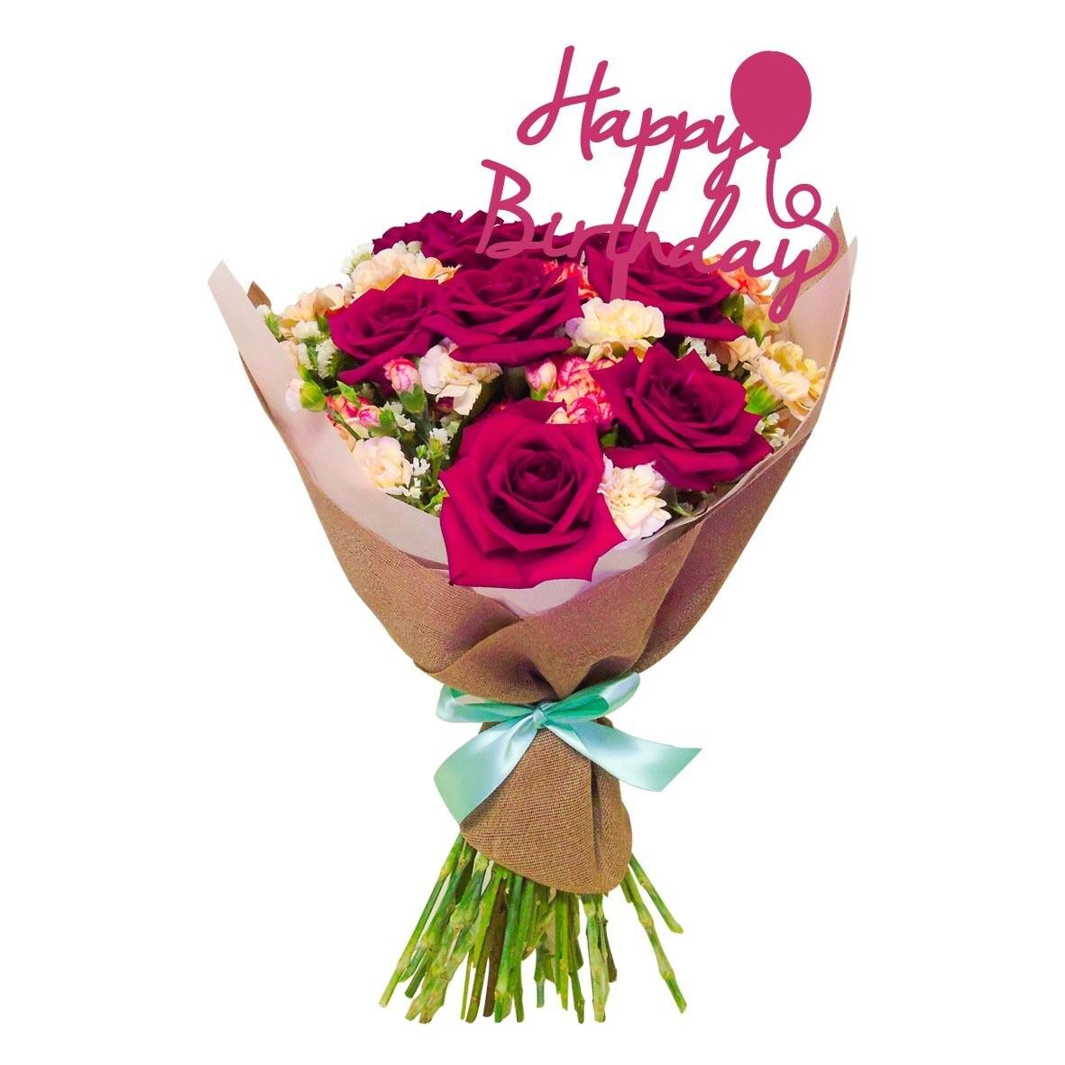 Bouquet rosas cherry
