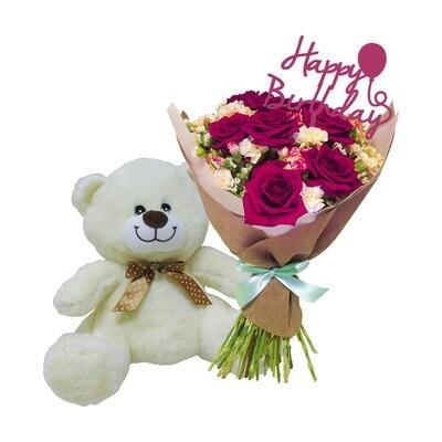 Paquete bouquet rosas cherry