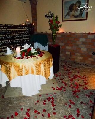 Decoración para cena románticas