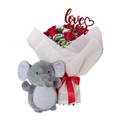 Pack de rosas rojas