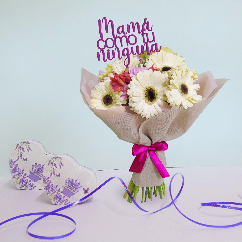 Bouquet de gerberas y miniclavel