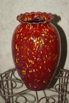 Red Frog Vase