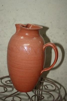Transparent Glaze Terra Cotta pitcher