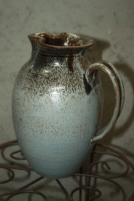 Smoke Blue Pitcher - Repaired