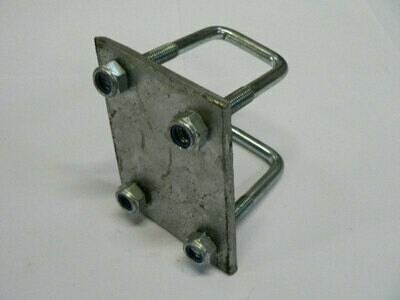 Crossmember clamp for 40mm x 40mm post (straight plate)