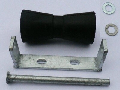 195mm keel roller with U bracket and 16mm pin