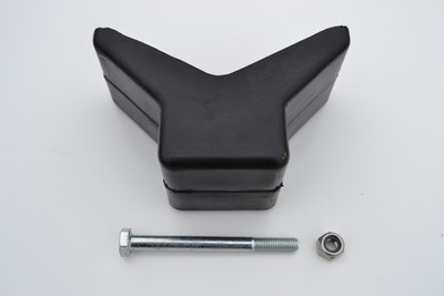 Boat trailer rubber bow stop
