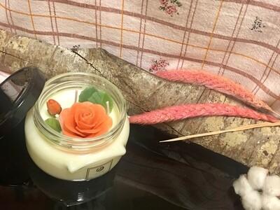 手工蜂蠟花蠟燭 / 蜂蠟花束