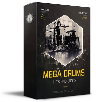 Mega Drums - Hits and Loops - Royalty Free Samples