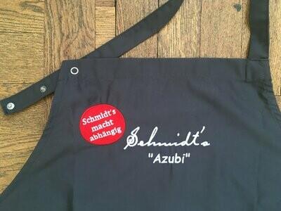 """Hochwertige Schürze mit Stick """"Schmidt's Azubi"""" (Versand oder tägliche Abholung)"""