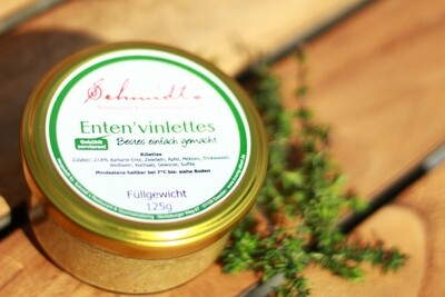Enten'vinlettes (zur Abholung, täglich verfügbar)