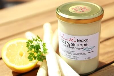 Schmidt's lecker Spargelsuppe mit Zitronengras (zur Abholung, täglich verfügbar)
